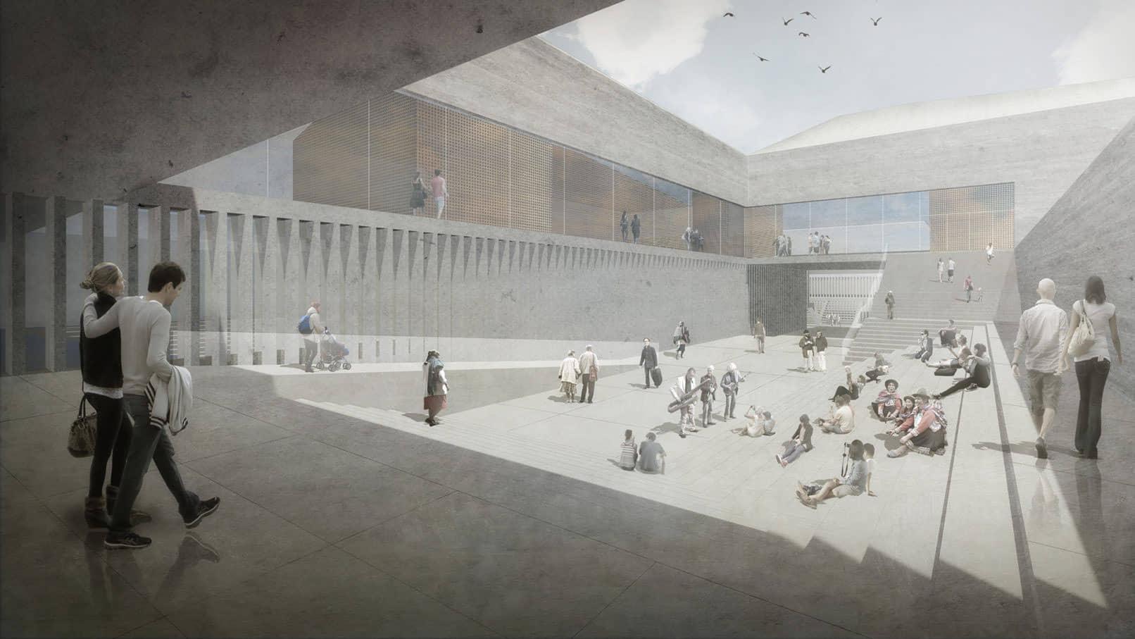 alt=vista interior de Centro Cultural WIÑAY AYNI MARKA