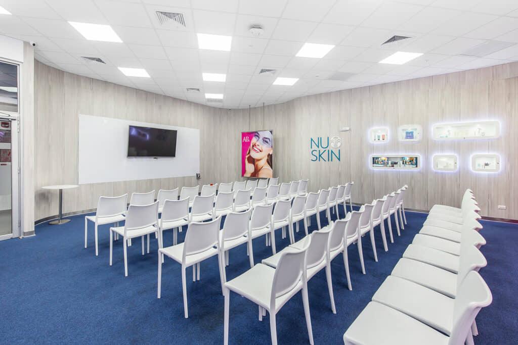 alt=sala de capacitación centro de experiencia