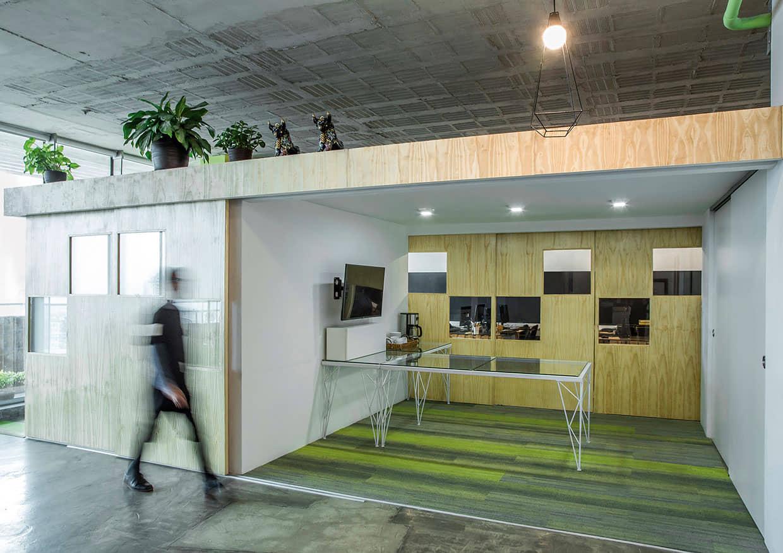 alt=Sala de reuniones del Diseño Vanguardista