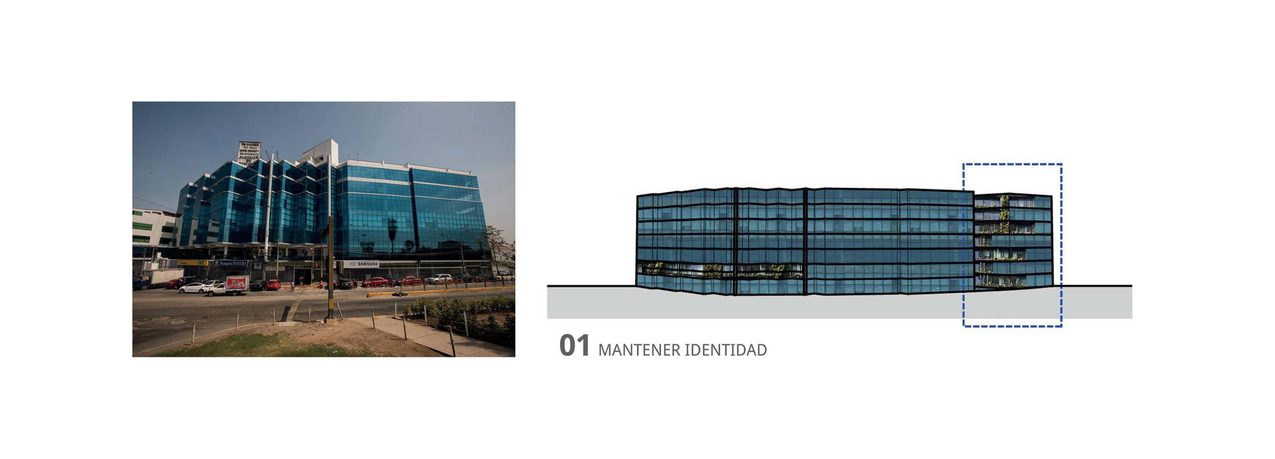 alt=imagen de la identidad del edificio de oficinas