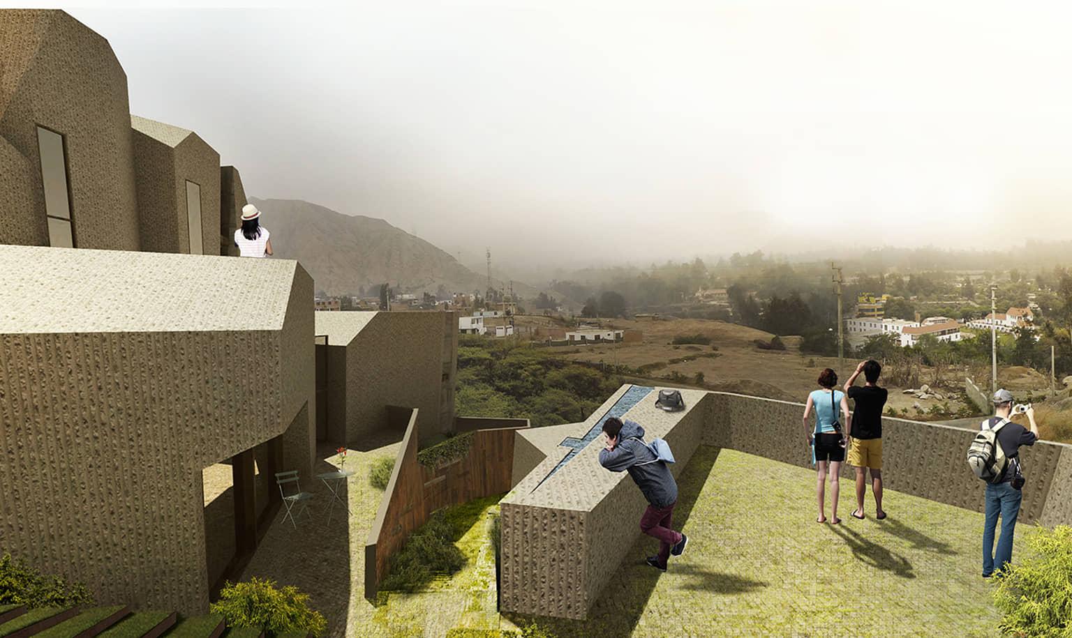 alt=vista desde los balcones, viviendas camuflaje