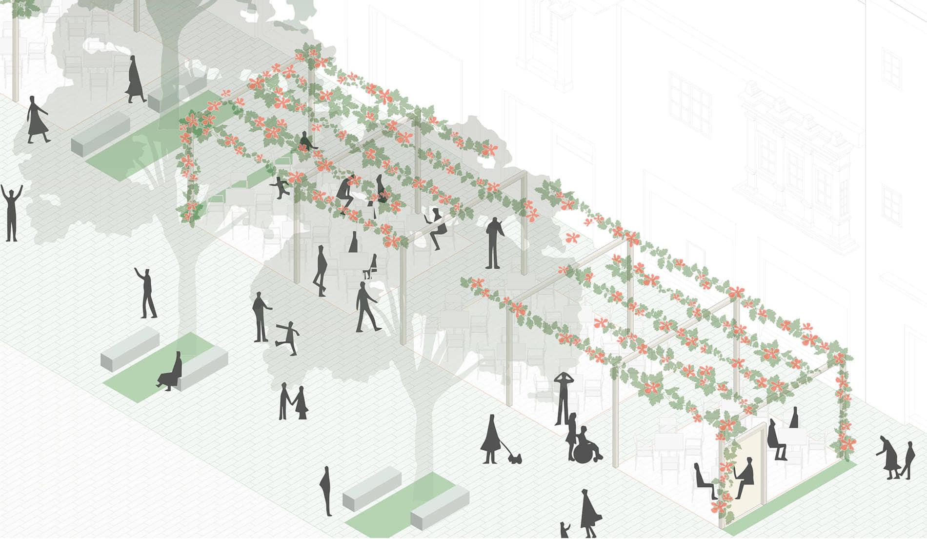alt=las terrazas del proyecto caminando miraflores