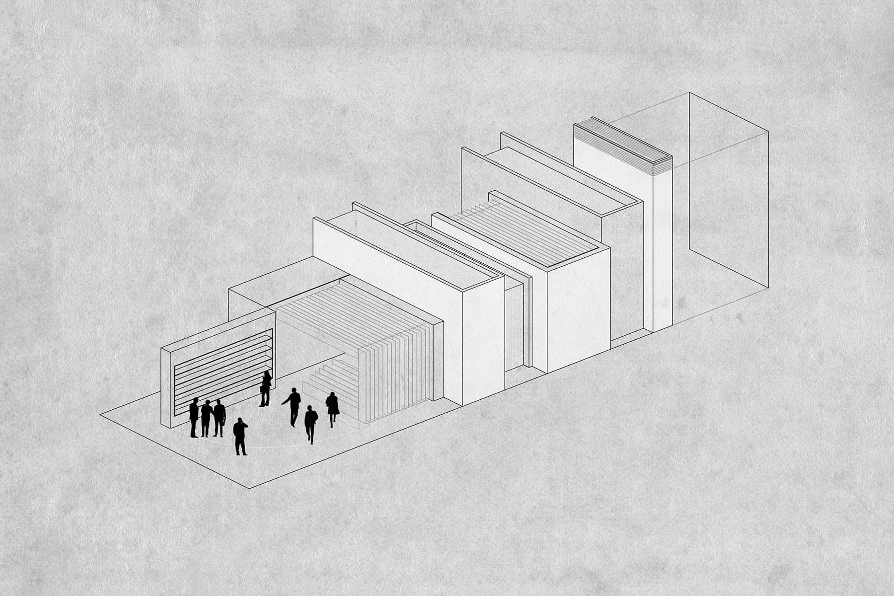 alt=concepto del pabellón institucional feria del libro
