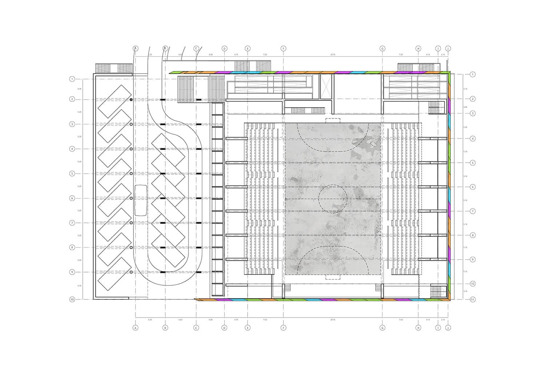alt=planimetría del coliseo santa teresa