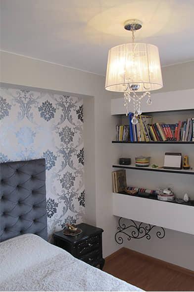 alt=habitación principal del flat Italia