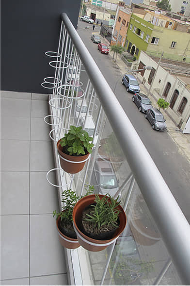 alt=balcón del flat Italia