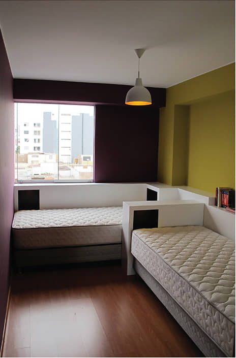 alt=habitación del flat Italia