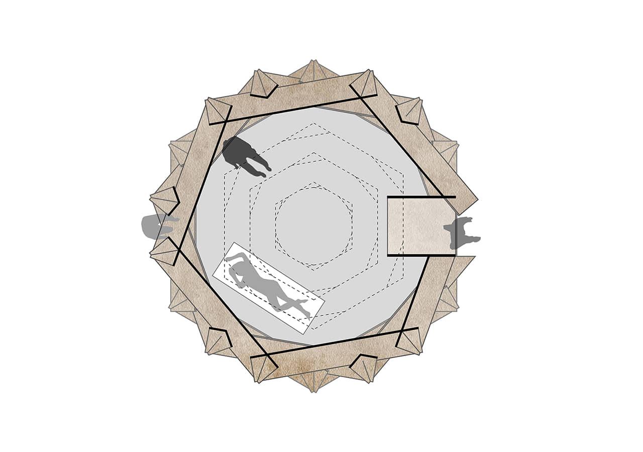 alt=planta del Refugio sostenible