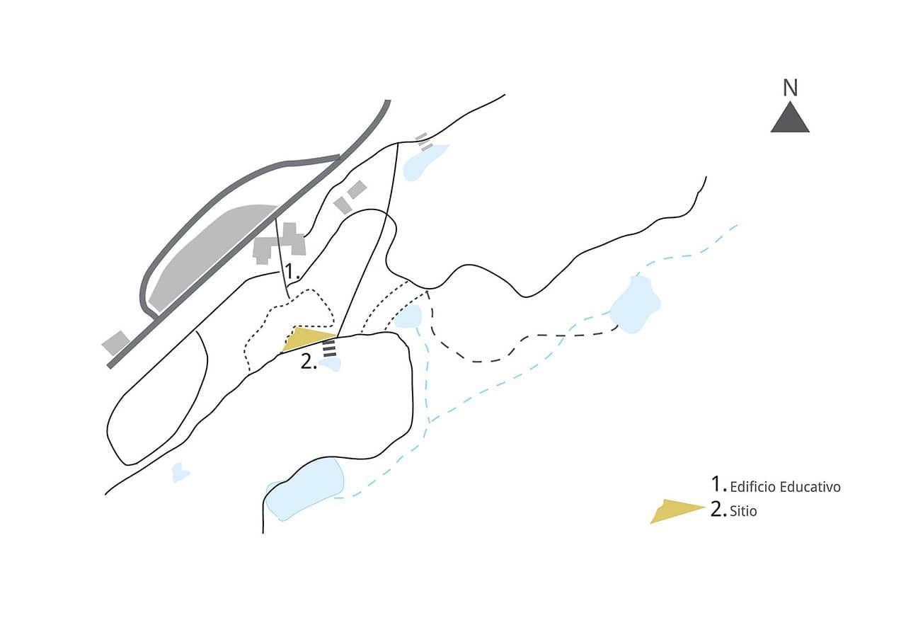 alt=ubicación del Refugio sostenible