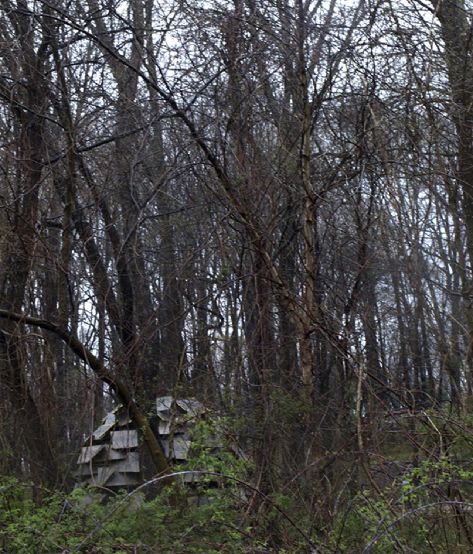 alt=camuflaje del Refugio sostenible