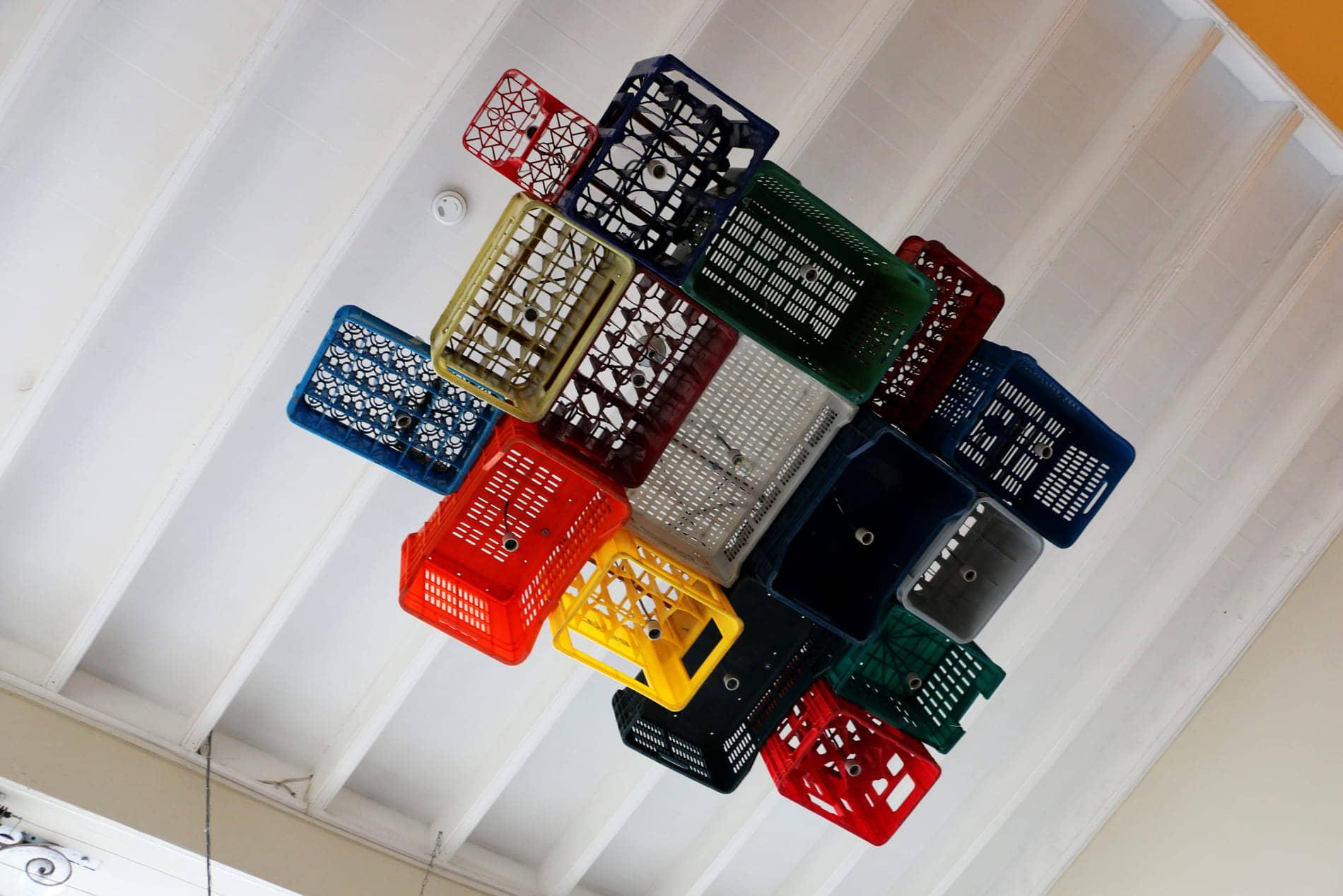 alt=decoración de reciclaje constructivo
