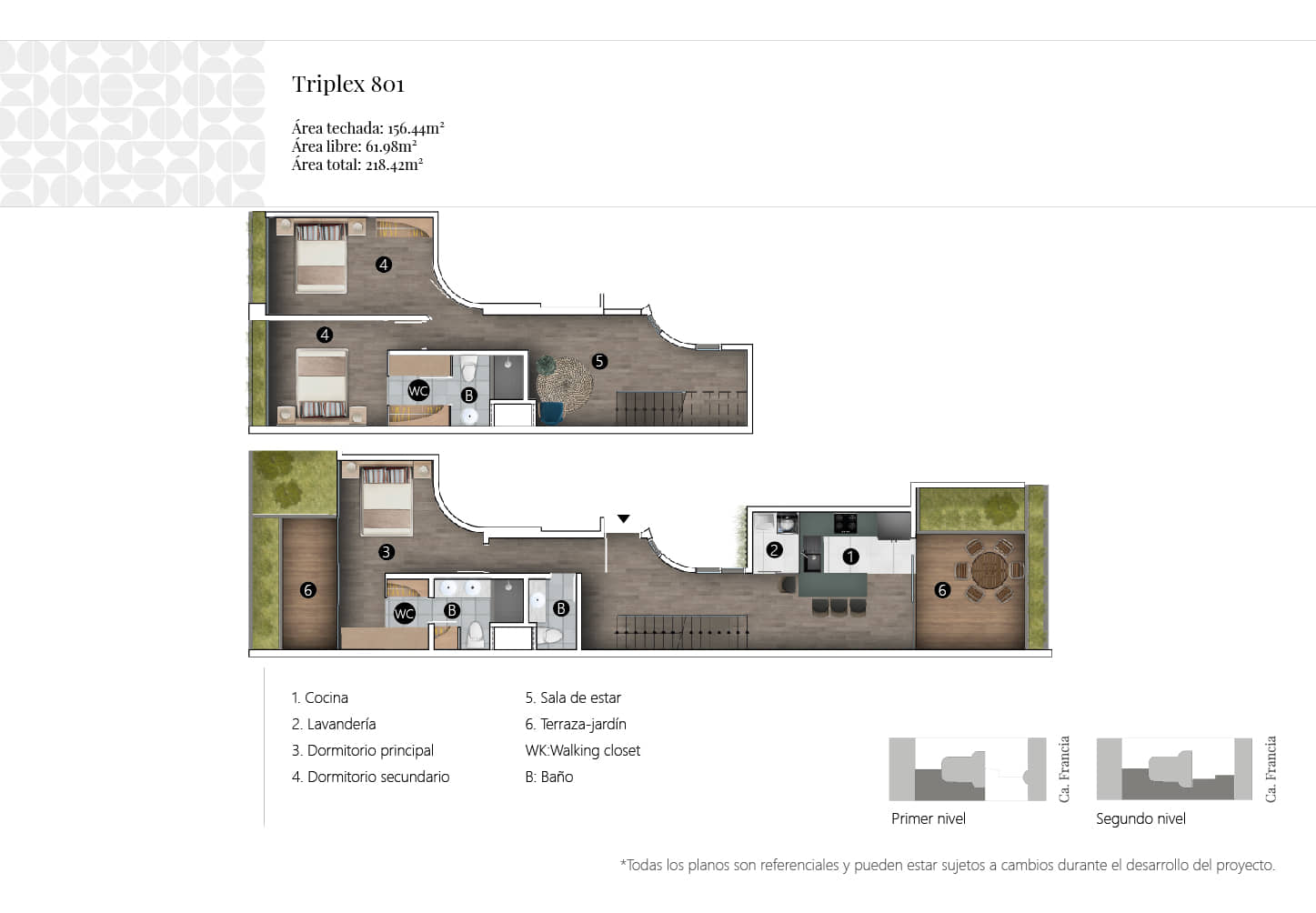 alt=Departamentos de vivienda multifamiliar calle francia